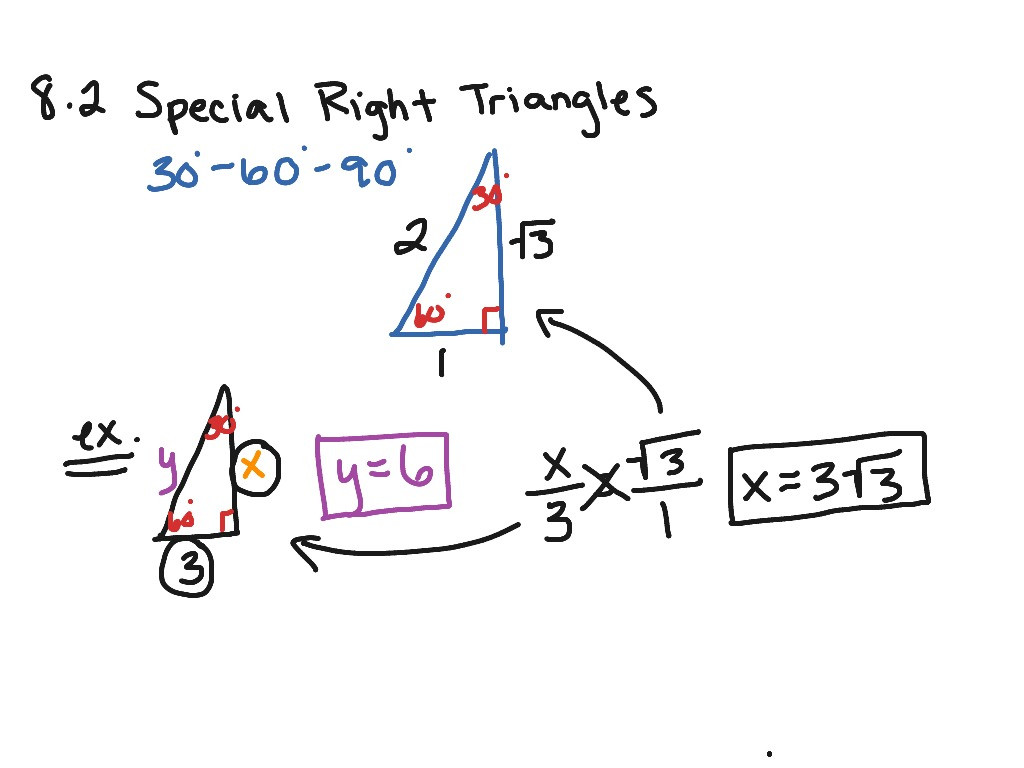 Special Right Triangles Practice Worksheet