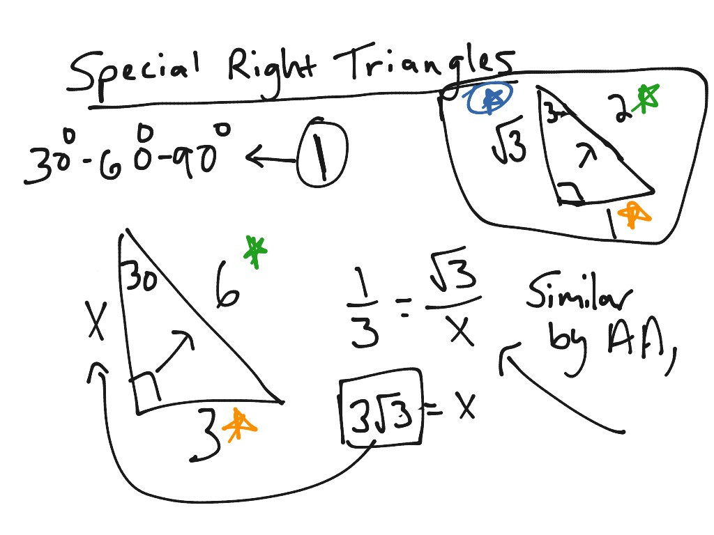Special Right Triangles Worksheet