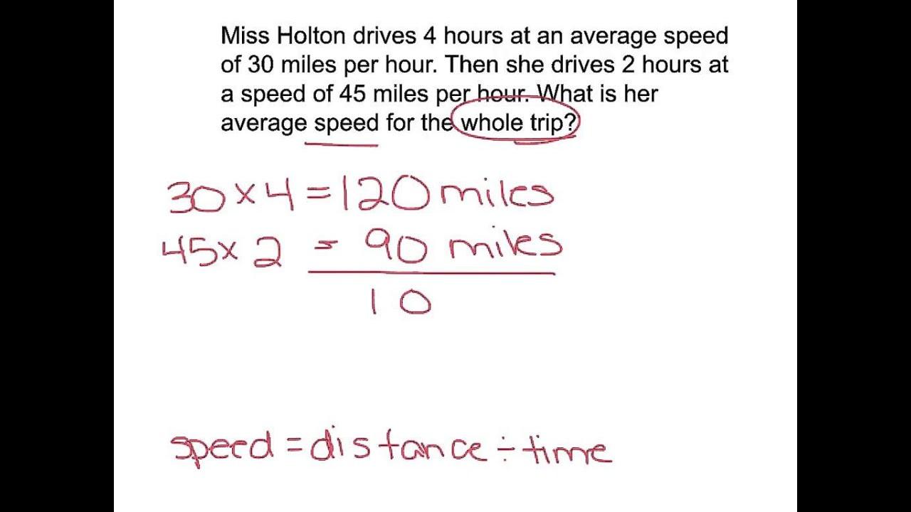 Speed Practice Problems Worksheet