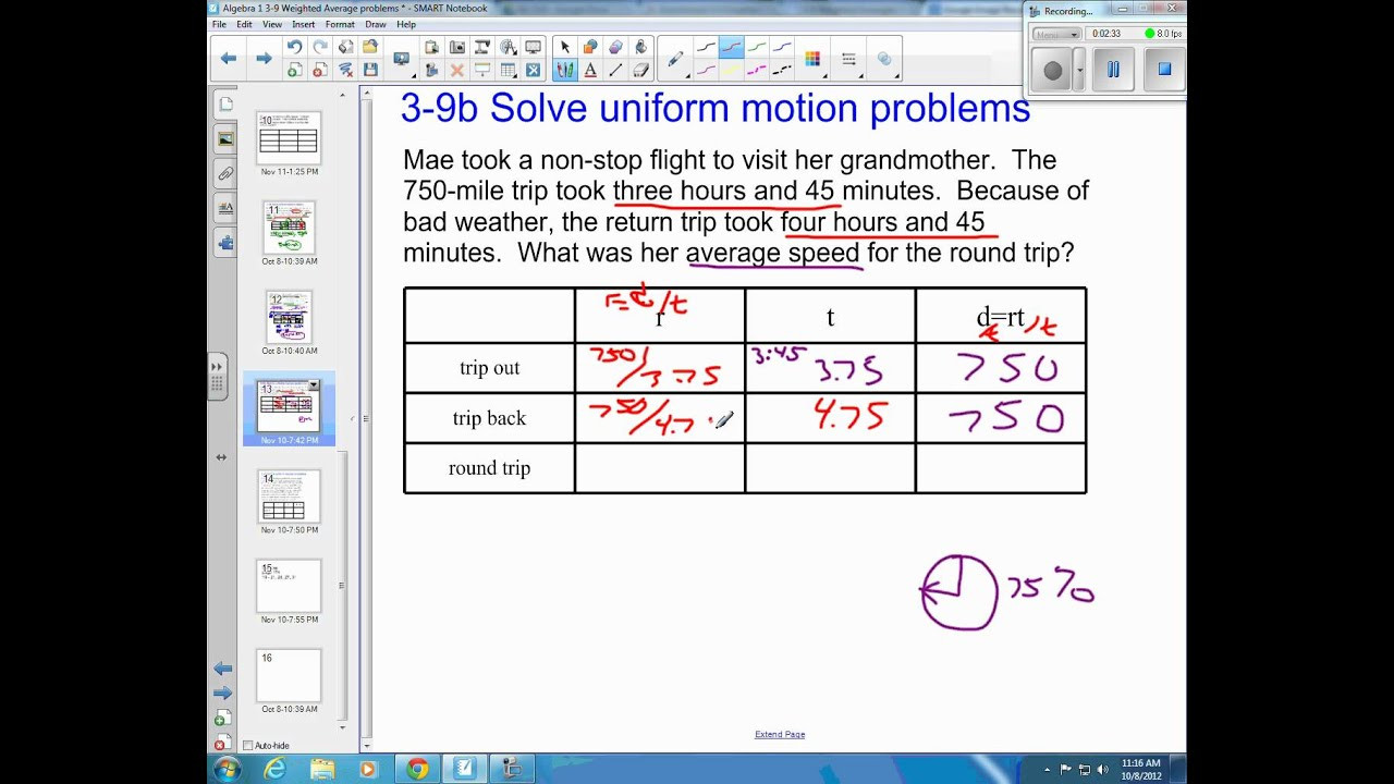 Speed Problem Worksheet Answers