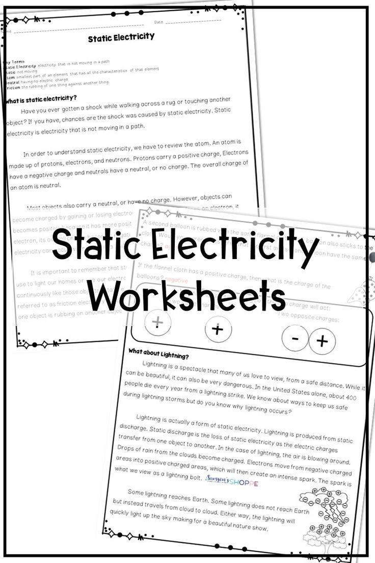 Static Electricity Worksheet Answers