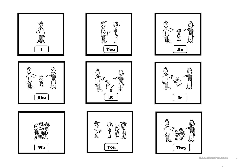 Subject Pronouns Spanish Worksheet