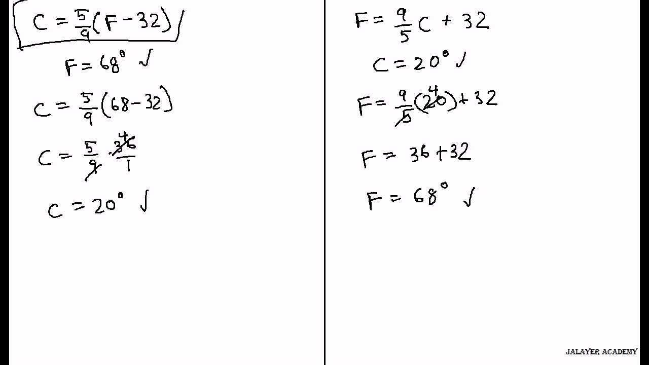 Temperature Conversion Worksheet Answer Key