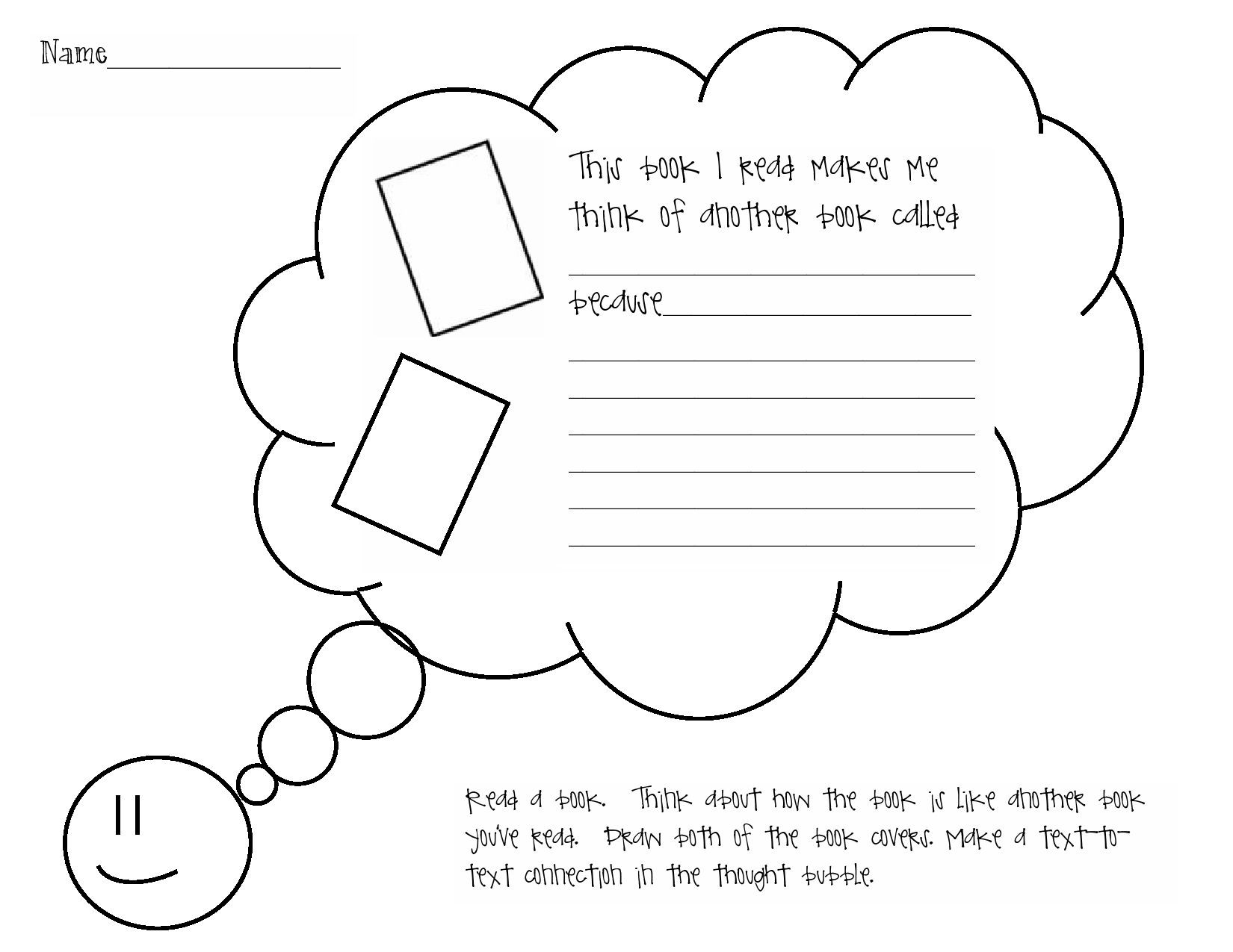 text to text connections worksheets
