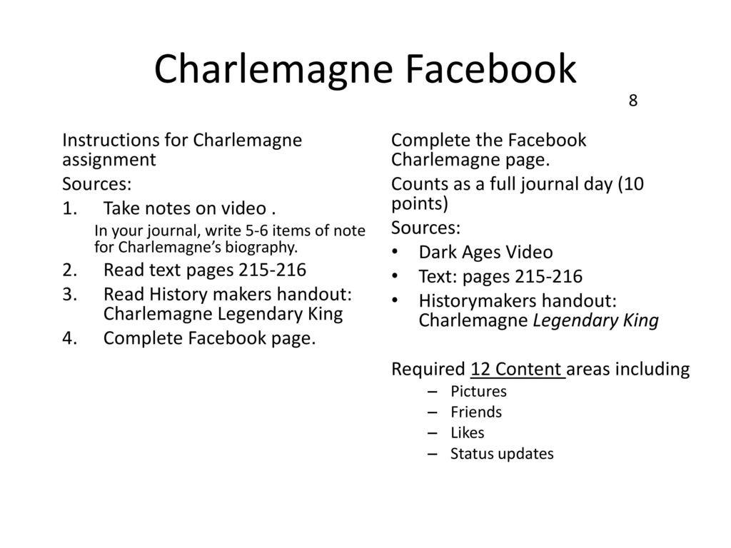 The Dark Ages Video Worksheet
