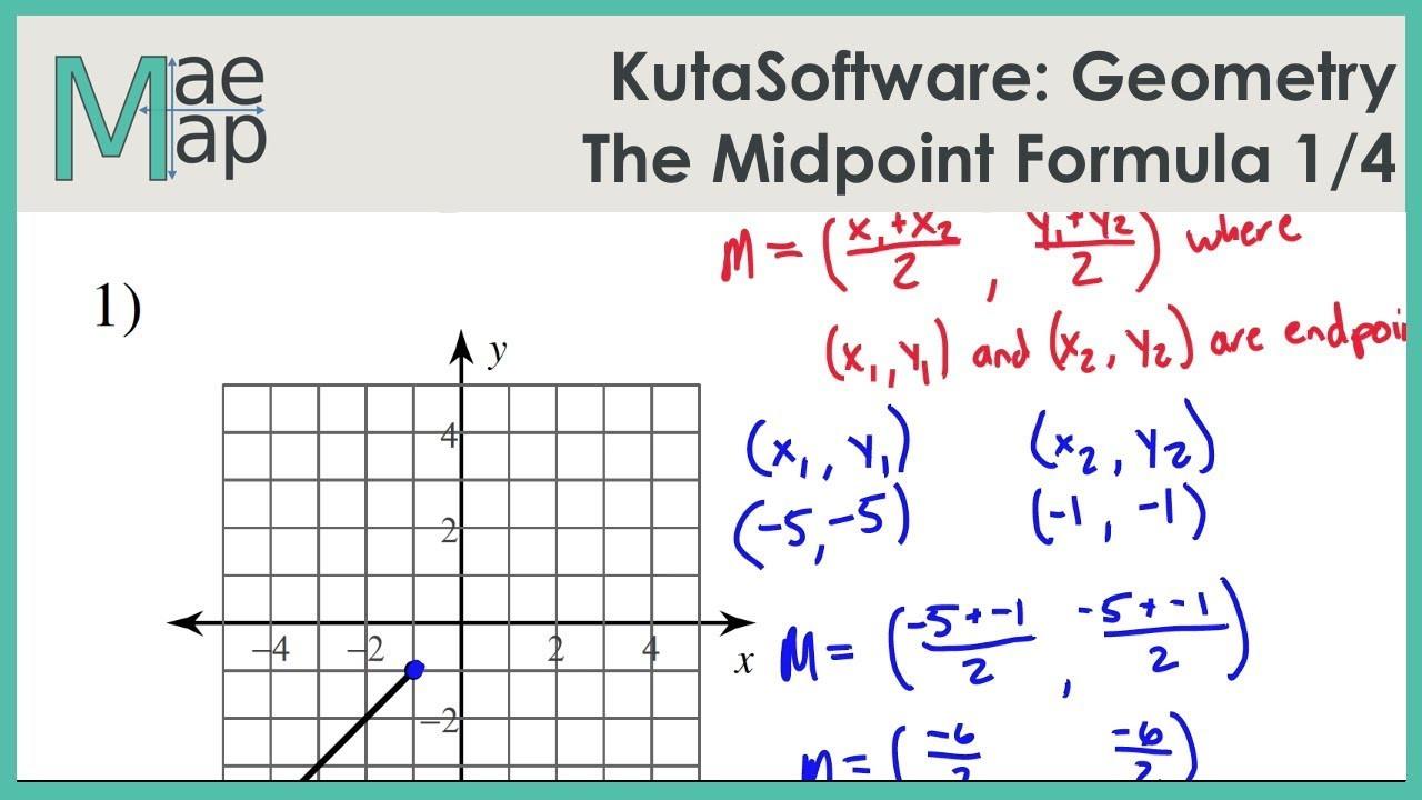 KutaSoftware Geometry The Midpoint Formula Part 1