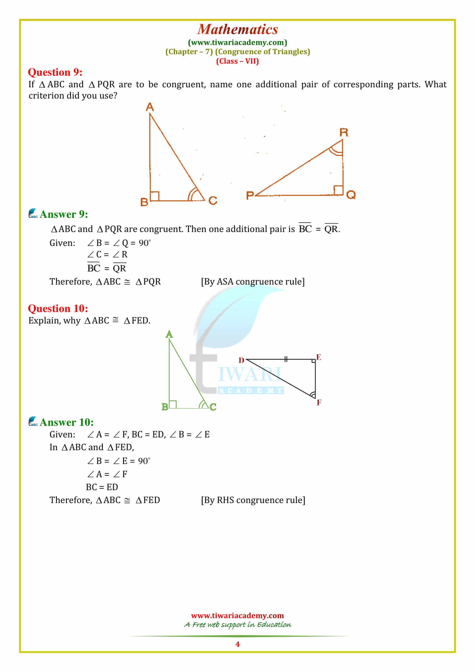Triangle Congruence Worksheet Pdf
