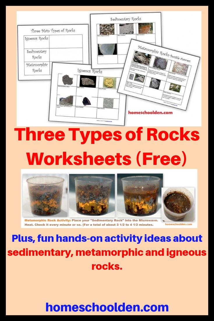 Types Of Rocks Worksheet Pdf