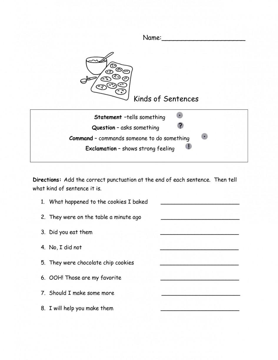 Types Of Sentences Worksheet