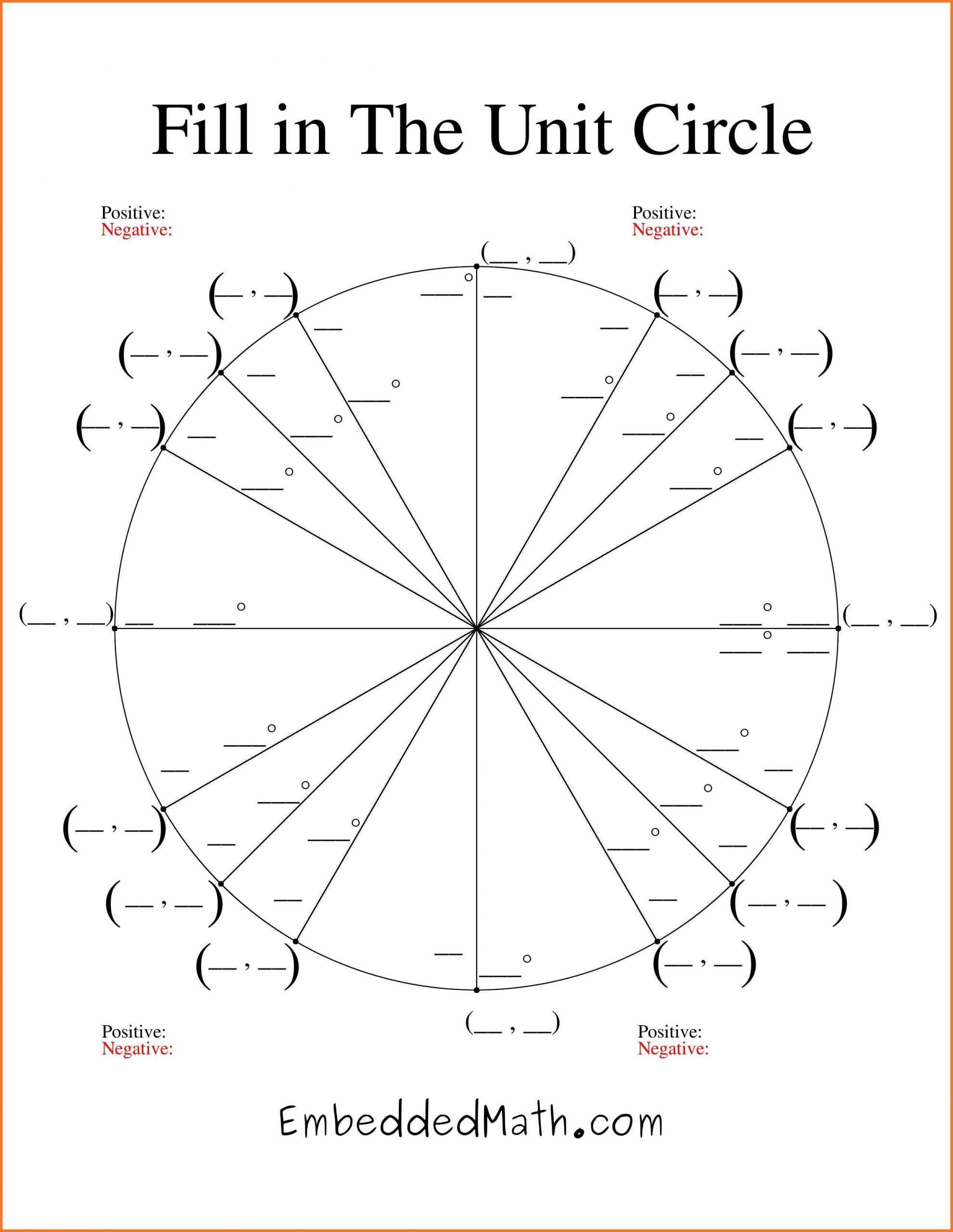 unit circle chart blank unit circle chart printable fill in
