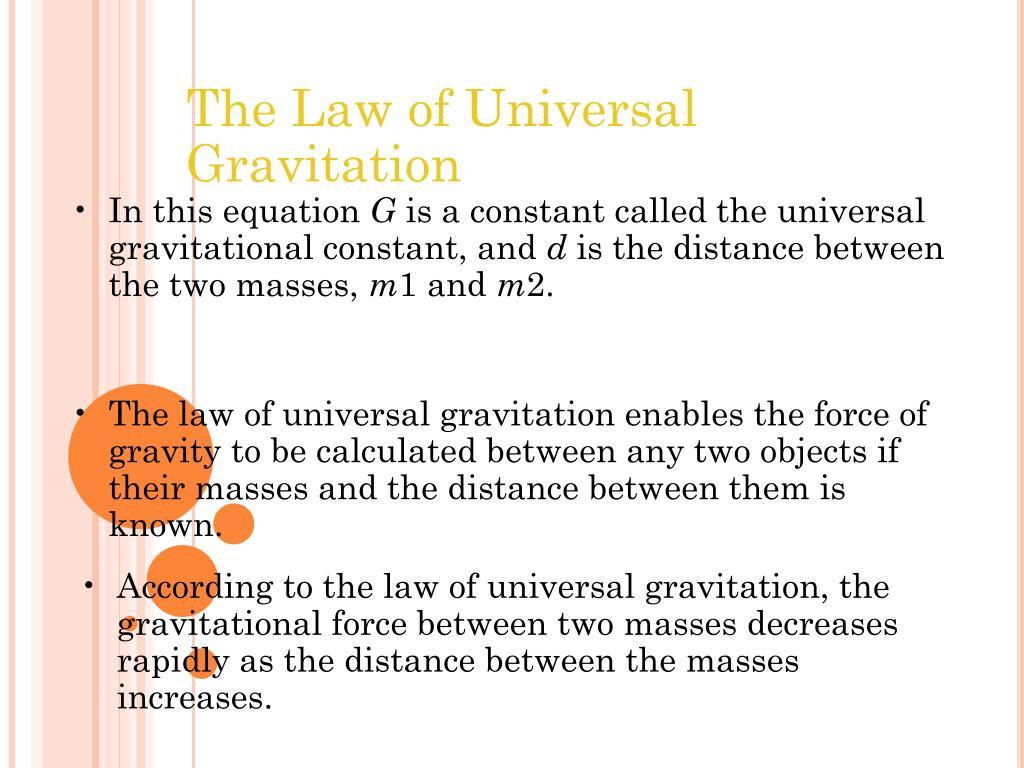 Universal Gravitation Worksheet Answers