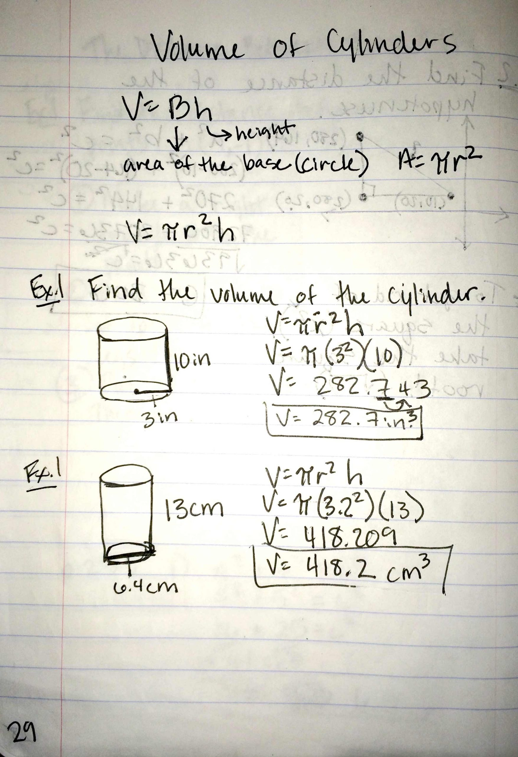 Volume Of Cylinders Worksheet